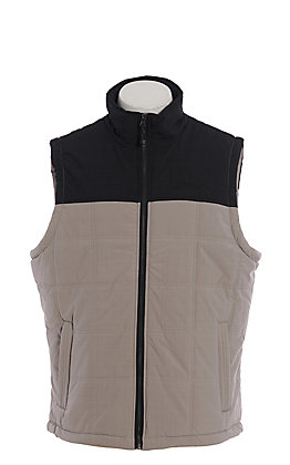 Rafter C Men's Grey & Black Canvas Puff Vest