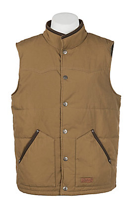 Rafter C Cowboy Collection Men's Camel Insulated Vest