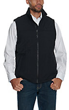 Rafter C Men's Canvas Black Puff Vest