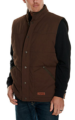 Rafter C Cowboy Collection Men's Mocha Insulated Vest