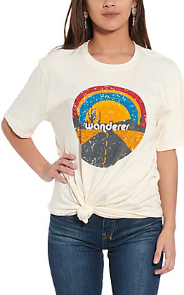 Rockin' C Women's Cream Wanderer Short Sleeve T-Shirt