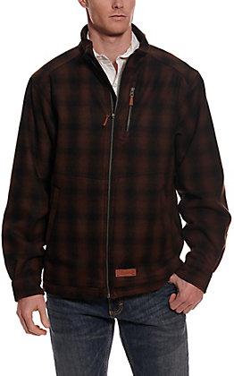 Rafter C Men's Brown & Black Plaid Wool Jacket
