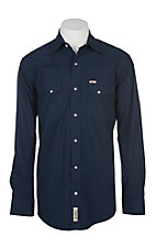 Rafter C ProFlex45 Black and Blue Micro Gingham Plaid L/S Western Snap Shirt - Big & Tall