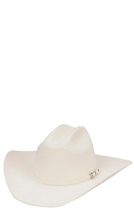 Rodeo King 3X White Felt Cowboy Hat