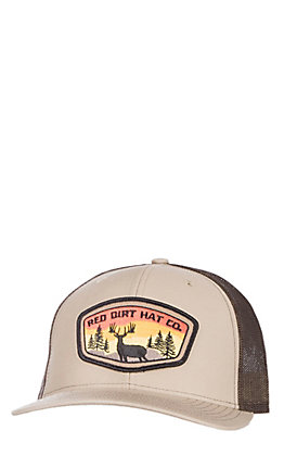 Red Dirt Hat Co. Khaki & Coffee Deer Tag Cap