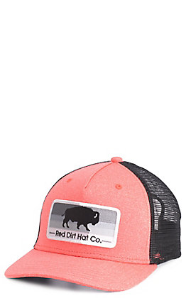 Red Dirt Hat Co. Melon & Black Buffalo Patch Cap