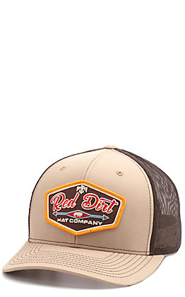 Red Dirt Hat Co. Khaki & Coffee Patch Cap