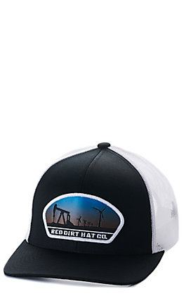 Red Dirt Hat Co Plains Black and White Snapback Cap