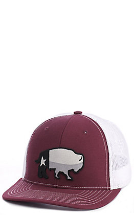 Red Dirt Hat Co. Maroon Texas Buffalo Cap