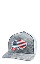 d302342b961 Red Dirt Hat Co. American Buffalo Grey and White Cap