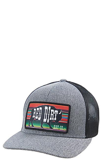 229c0cf08 Red Dirt Hat Co. Heather Serape Buffalo Black Cap