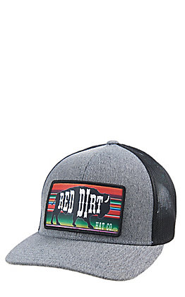 Red Dirt Hat Co. Heather Serape Buffalo Black Cap