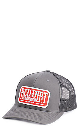 Red Dirt Hat Co. Charcoal Red Patch Cap