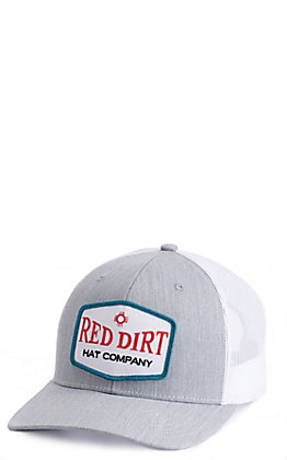 Red Dirt Hat Co. Grey And White Patch Cap