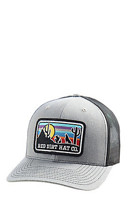 d8d462a8e0174 Red Dirt Hat Co. Grey and Black Coyote Cap