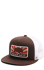 907a6b36152 Red Dirt Hat Co. Brown and White Buffalo Patch Cap
