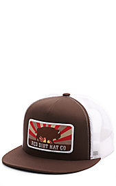 85aad6bead197 Red Dirt Hat Co. Brown and White Buffalo Patch Cap