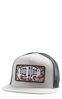 Red Dirt Hat Co. Aztec Buffalo Silver Black Cap