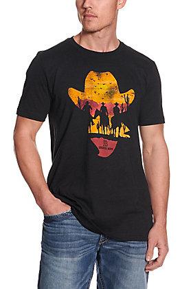 Anderson Bean Men's Black Cowboy Hat Short Sleeve Tee