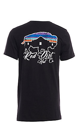 Red Dirt Hat Co. Men's Black Serape Buffalo/Alamo Graphic T-Shirt