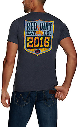 Red Dirt Hat Co. Men's Heather Navy Vintage Back Number Graphic Short Sleeve T-Shirt