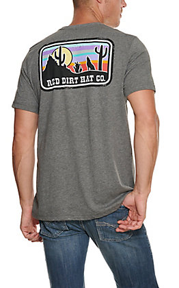 Red Dirt Hat Co. Men's Grey Coyote Graphic T-Shirt