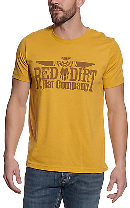 Red Dirt Hat Co. Men's Mustard Thunderbird Graphic T-Shirt