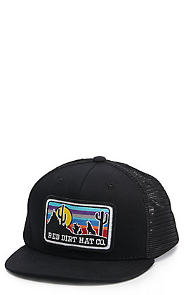 Red Dirt Hat Co. Kids Black Coyote Patch Cap