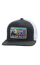 Red Dirt Hat Co. Youth Black and White Coyote Cap