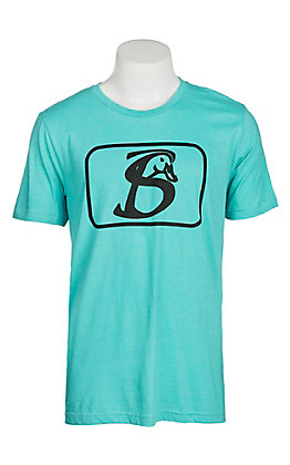 Stackin Bills Men's Seafoam and Black Logo S/S T-Shirt