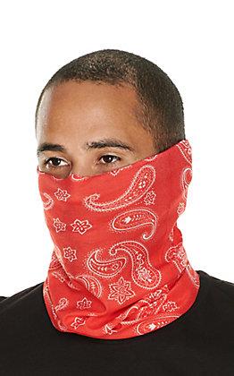 John Boy Red Paisley Face Guard