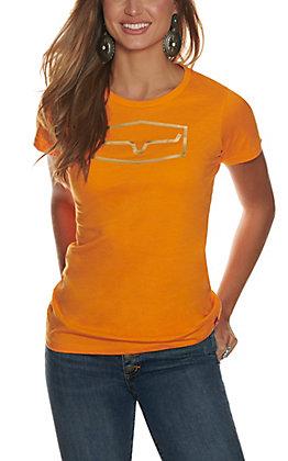 Kimes Ranch Women's Orange Gold Foil Logo Short Sleeve T-Shirt