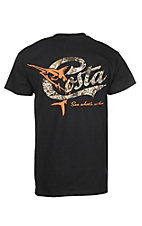 Costa Retro Black with Camo S/S Graphic T-Shirt