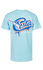 Costa Men's Retro Sky Logo T-Shirt