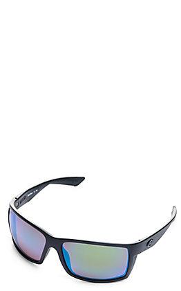 Costa Reefton Blackout Green Mirror Polarized Sunglasses