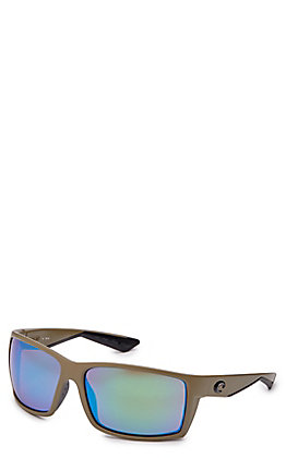 Costa Reefton Matte Moss Green Mirror Sunglasses