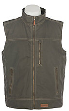 Rafter C Men's Gunmetal Grey Canvas Vest
