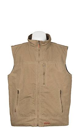Rafter C Men's Khaki Canvas Vest
