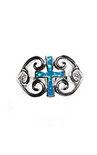 Montana Silversmiths River of Lights Filigree Water Lights Cross Ring - Size 7