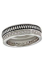 Montana Silversmiths Women's Western Crown Rope Ring - Size 7