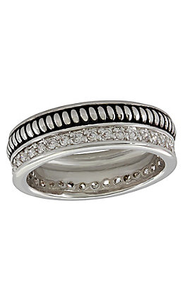 Montana Silversmiths Women's Western Crown Rope Ring - Size 8