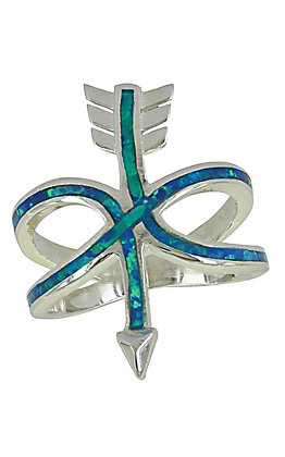 Montana Silversmith Set Your Intentions Opal Arrow Ring - Size 8