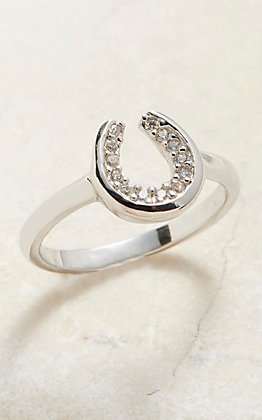 Montana Silversmiths Horseshoe Sparkle Ring