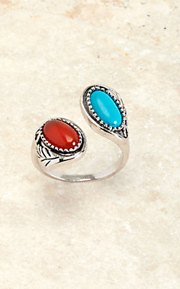 Montana Silversmiths Silver Earth and Sky Ring