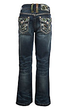Grace in LA Girl's Realtree Flap Pocket Boot Cut Jeans