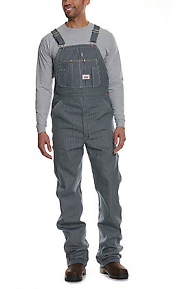 Round House Striped Bib Overalls