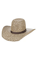 HOOey by Resistol Del Rio Chocolate and Ivory Straw Hat