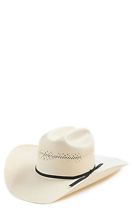 Resistol 7X Ivory Luke Vent Cattleman Cowboy Hat