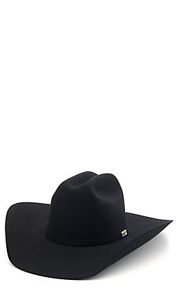 Resistol 6X Houston Black Fur Felt Cowboy Hat