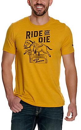 Mason Jar Label Men's Vintage Yellow Ride or Die Short Sleeve T-Shirt